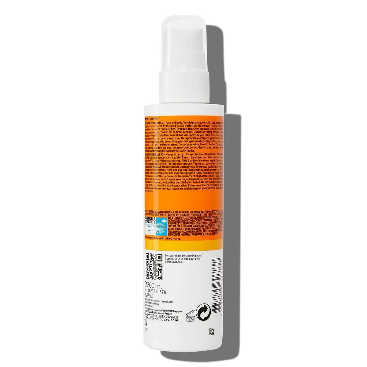ANTHELIOS NIEWIDOCZNY SPRAY Spf 50 200 ml BSS | La Roche Posay