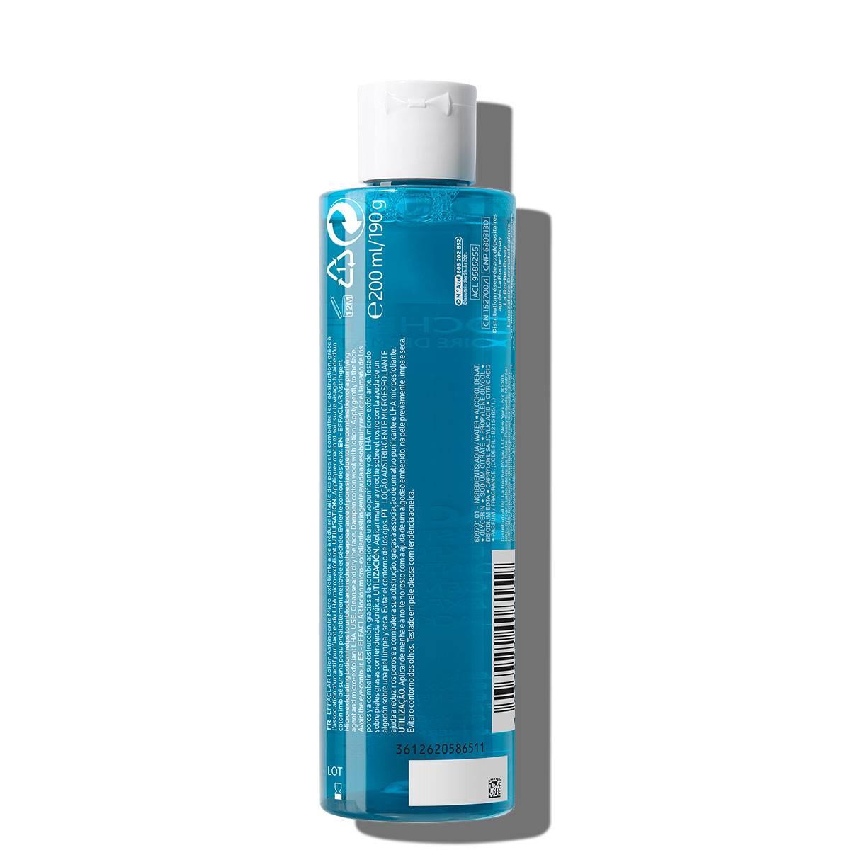 Tonik do cery tłustej EFFACLAR TONIK 200 ml Tył | La Roche Posay