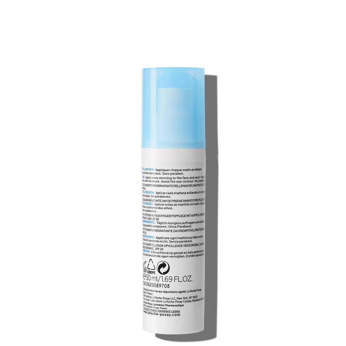 Krem nawilżający z filtrem uv HYDRAPHASE UV INTENSE RICHE SPF 20 50 ml Tył | La Roche Posay