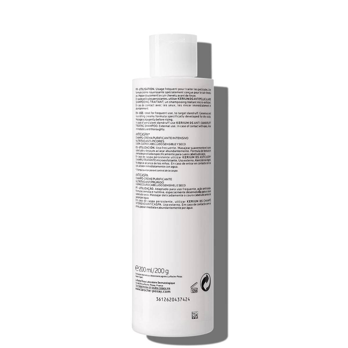 Kerium Anti Dandruff Szampon w kremie 200 ml Tył | La Roche Posay