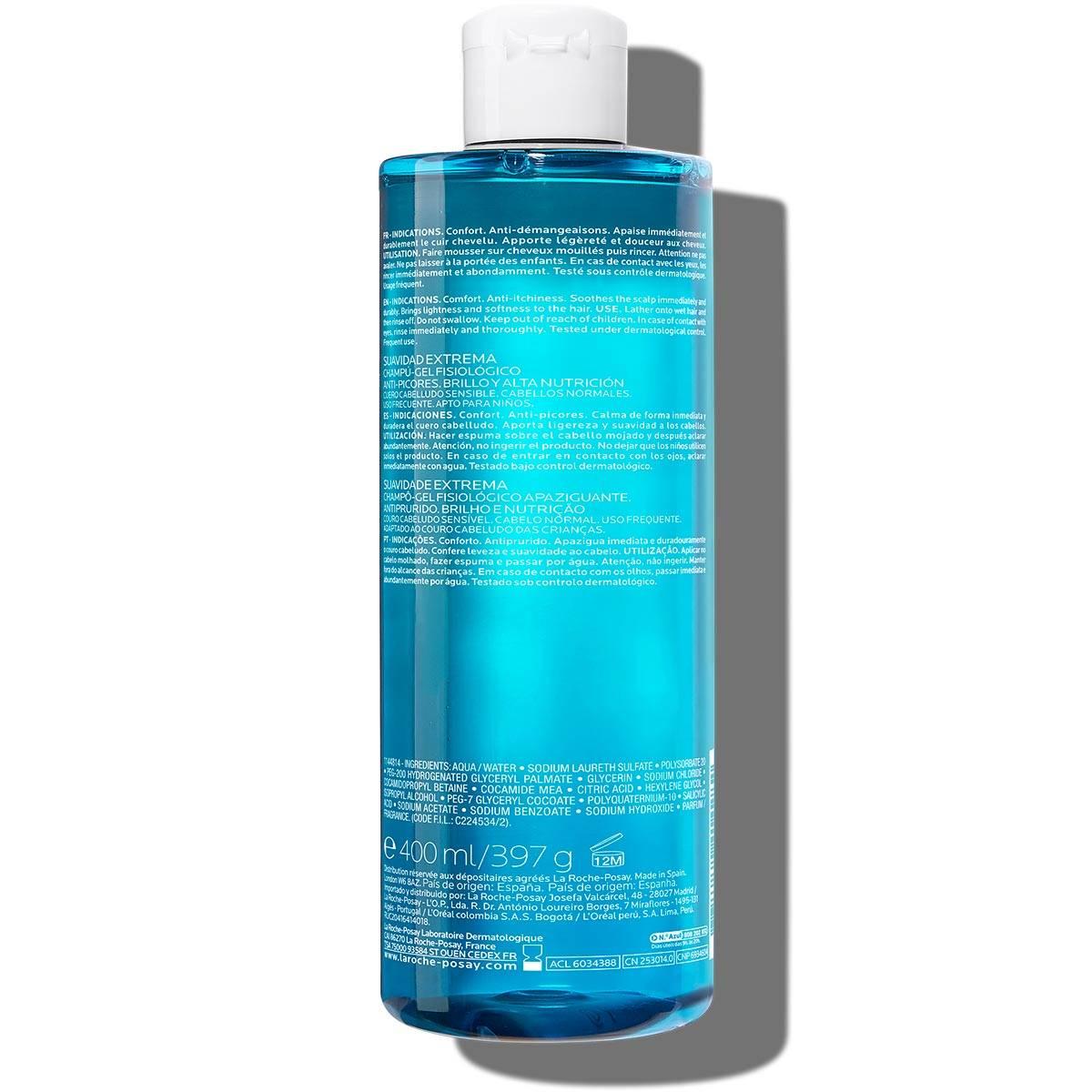 Szampon oczyszczający skórę głowy DELIKATNY SZAMPON OCZYSZCZAJĄCY 400 ml Tył | La Roche Posay