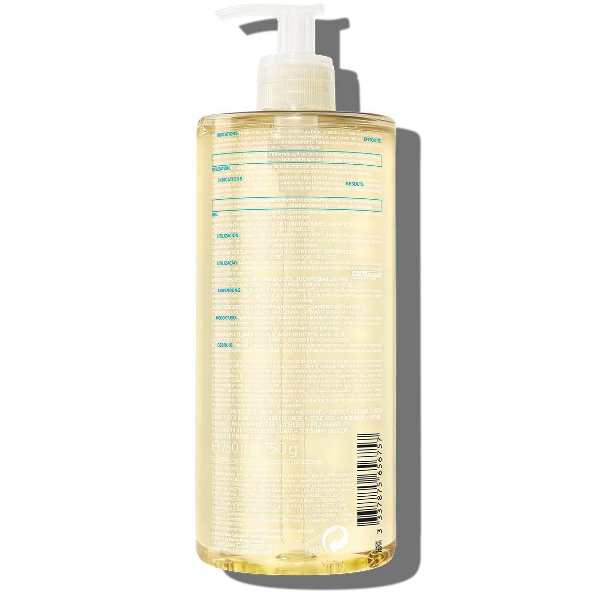 Egzema Lipikar Olejek myjący AP 750 ml | La Roche Posay