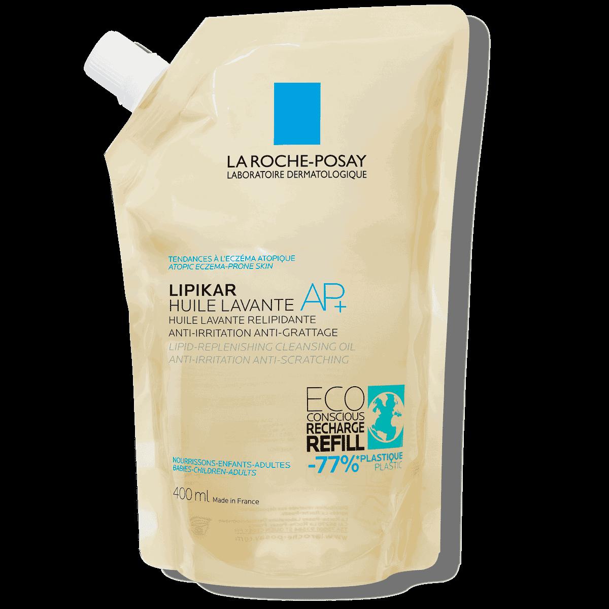 Lipikar Eco conscious Refill Cleansing Oil AP 400 ml | La Roche Posay