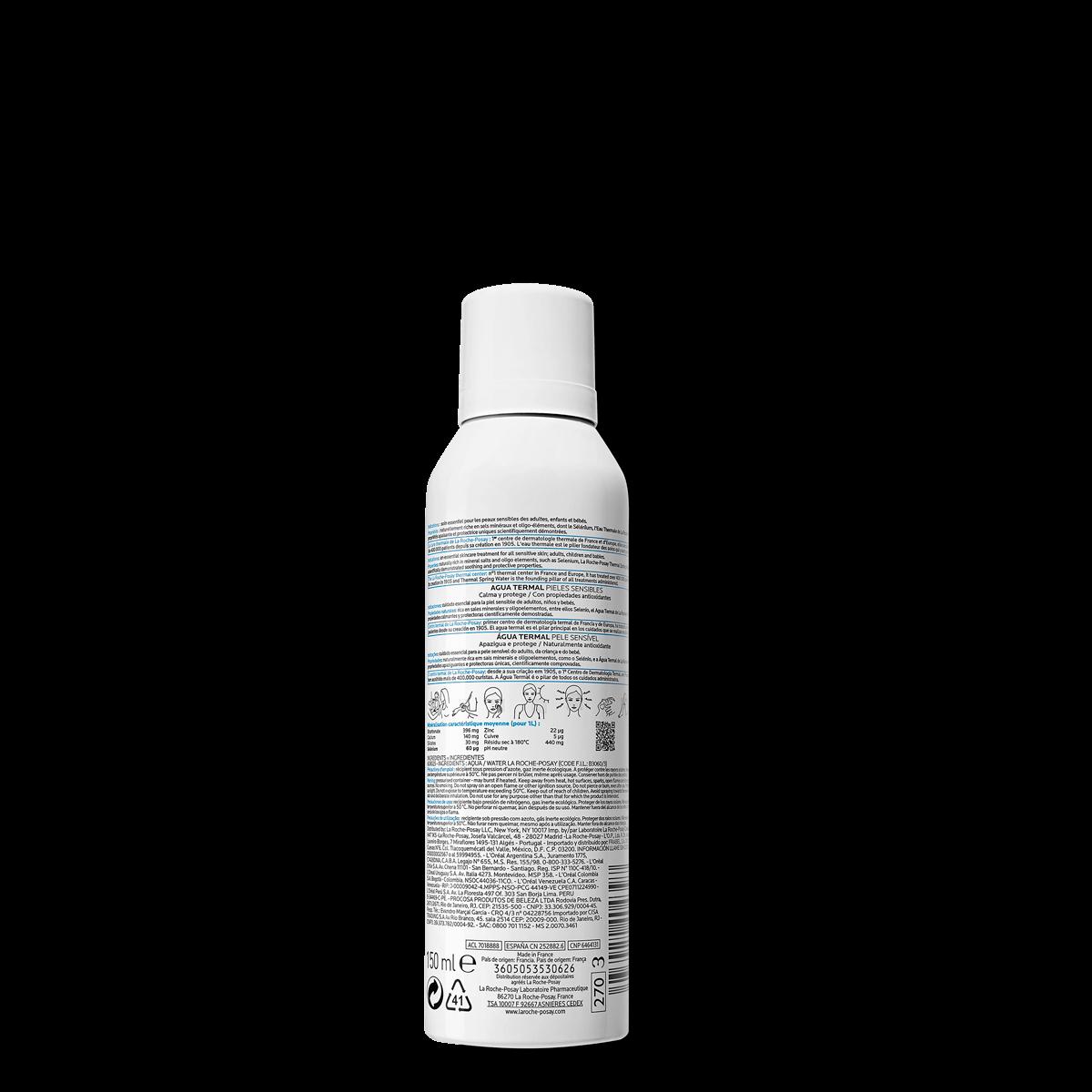 Woda termalna do twarzy WODA TERMALNA Z LA ROCHE-POSAY 150 ml Tył | La Roche Posay