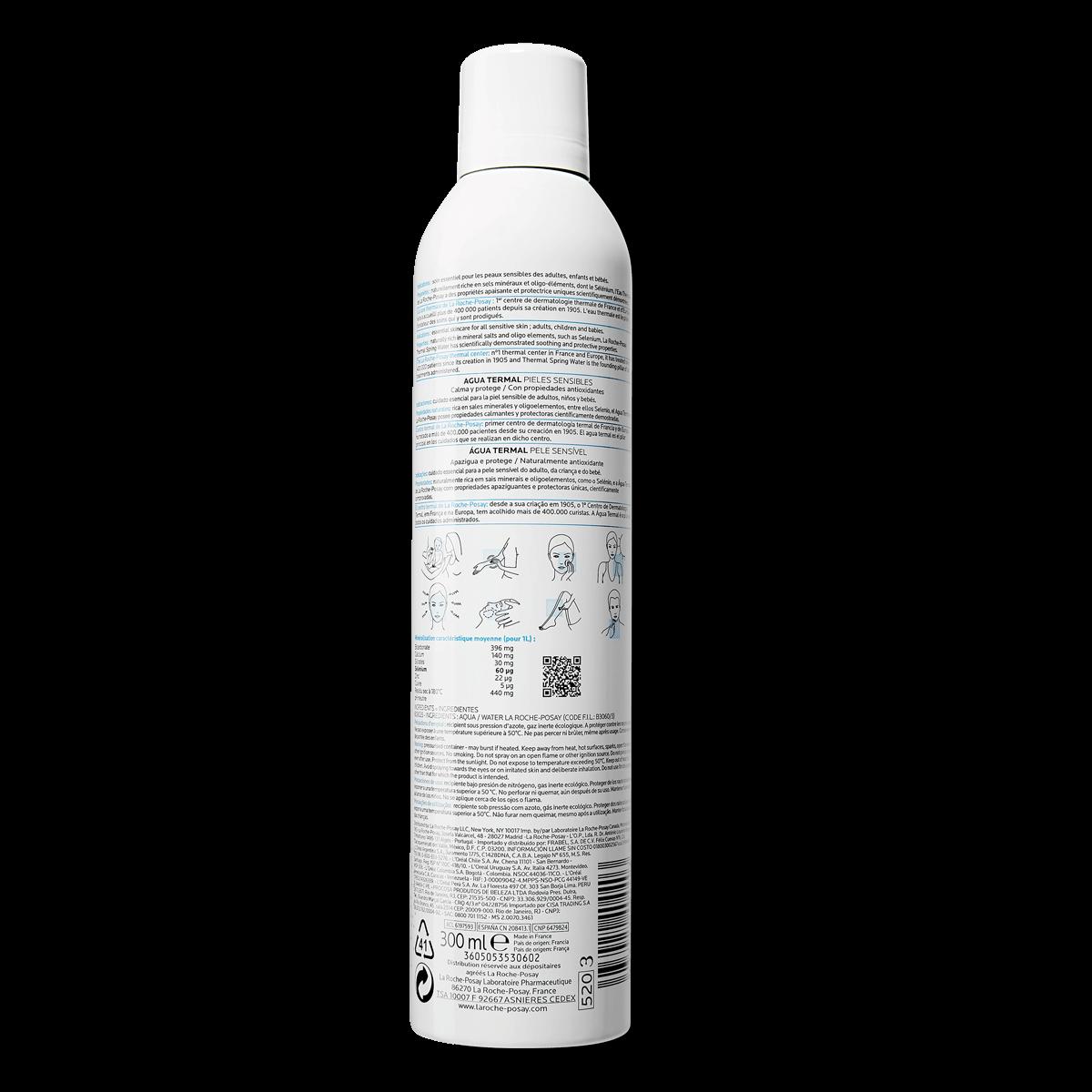 Woda termalna do twarzy WODA TERMALNA Z LA ROCHE-POSAY 300 ml Tył | La Roche Posay