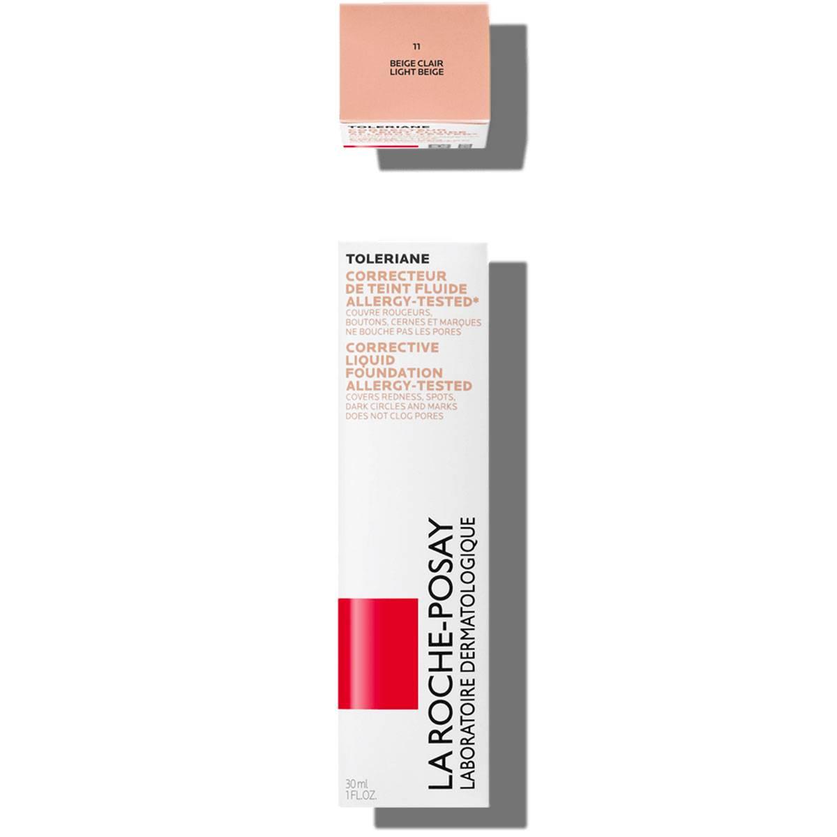 Toleriane Makeup CORRECTIVE LIQUID FOUNDATION 11 Light Beige   La Roche Posay