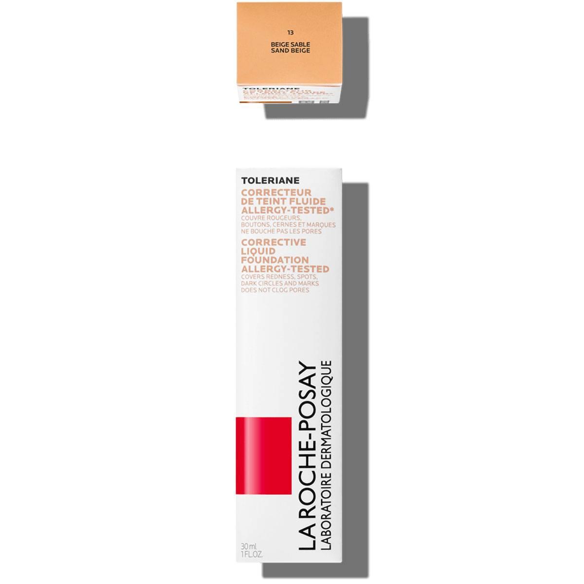 Toleriane Makeup CORRECTIVE LIQUID FOUNDATION 13 Sand Beige 2   La Roche Posay